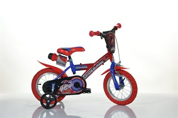 "12 ""License Spiderman bike with a drink cap"