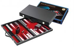 Backgammon red,medium,synthetic leather