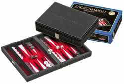 Tinos, red, small, Backgammon, magnetic