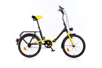 Folding bike / boat bike Black with 6 Shimano gears (perfect for camping and as a boat bike)