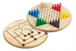 Chinese Checkers-Nine Men's Morris combination