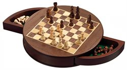 Chess Set, rounded, magnetic, field 25mm