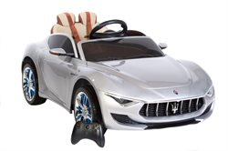 Maserati Alfieri 12V, removeable battery, rubber tires. Leather seat