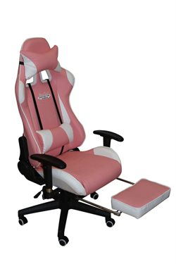 Stanlord Gamer chairs Kiowa Pink with footrest