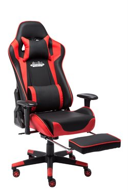 Stanlord Gamer chairs Colville Red with footrest