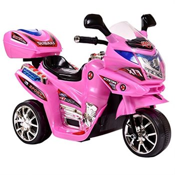 Azeno 6V Night Rider Pink Motorcycle