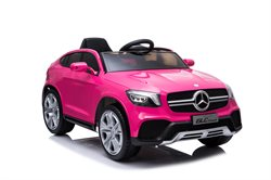 Mercedes GLC Couple Pink, 12Volt, rubber tires, leather seat