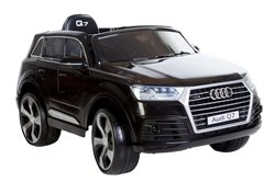 Audi Q7 Sort, 12V, leatherseat, rubber tires