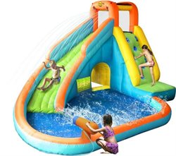 Bouncer Waterpark with slide and water canon