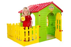"Play house ""Garden House"" with fence"