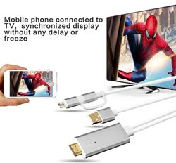 HDTV kabel - Lightning and Micro USB