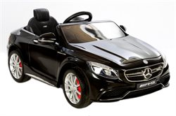 Mercedes S63 Black, 12Volt, rubber tires
