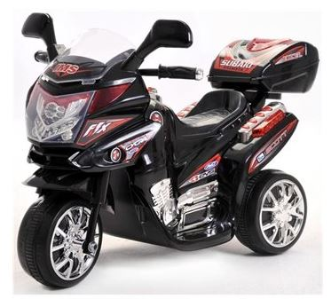 Azeno 6V Night Rider Black Motorcycle