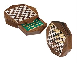 Travel Chess Set Octagon,mini,field 13mm
